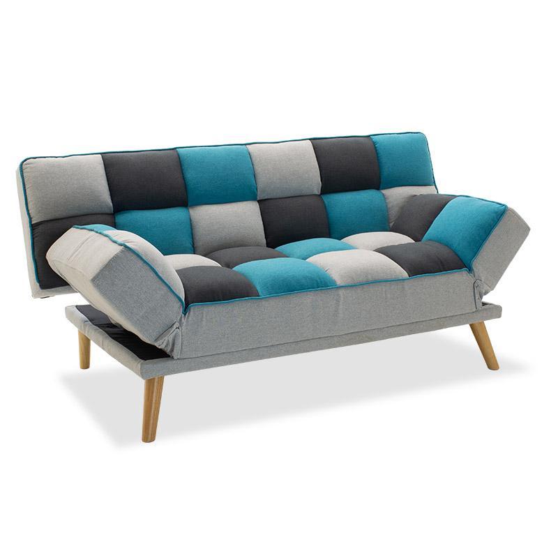 Καναπές – κρεβάτι Andy pakoworld 3θέσιος με ύφασμα πολύχρωμο 178x91x86εκ
