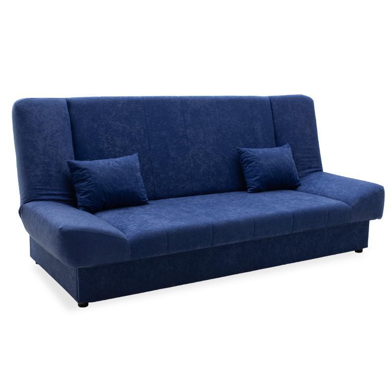 Καναπές-κρεβάτι Tiko pakoworld 3θέσιος με αποθηκευτικό χώρο ύφασμα μπλε