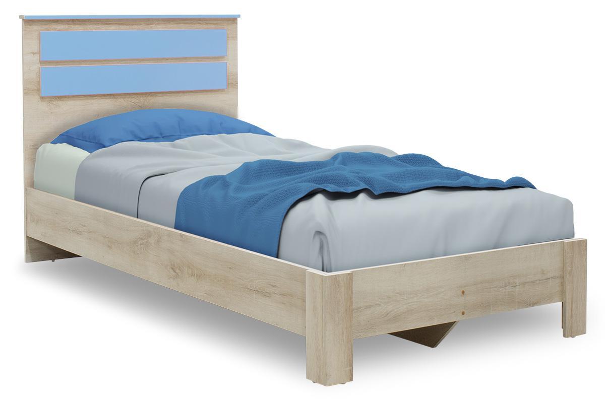 Κρεβάτι παιδικό Looney pakoworld σε χρώμα castillo-μπλε 100×200εκ