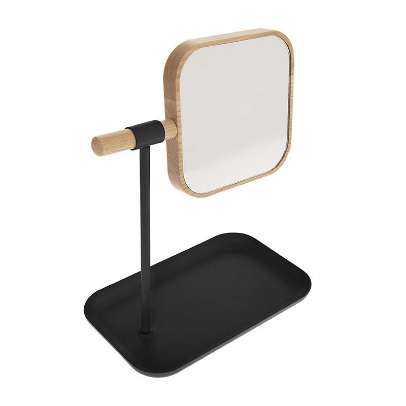 Καθρέφτης μπάνιου Nature pakoworld φυσικό-μαύρο