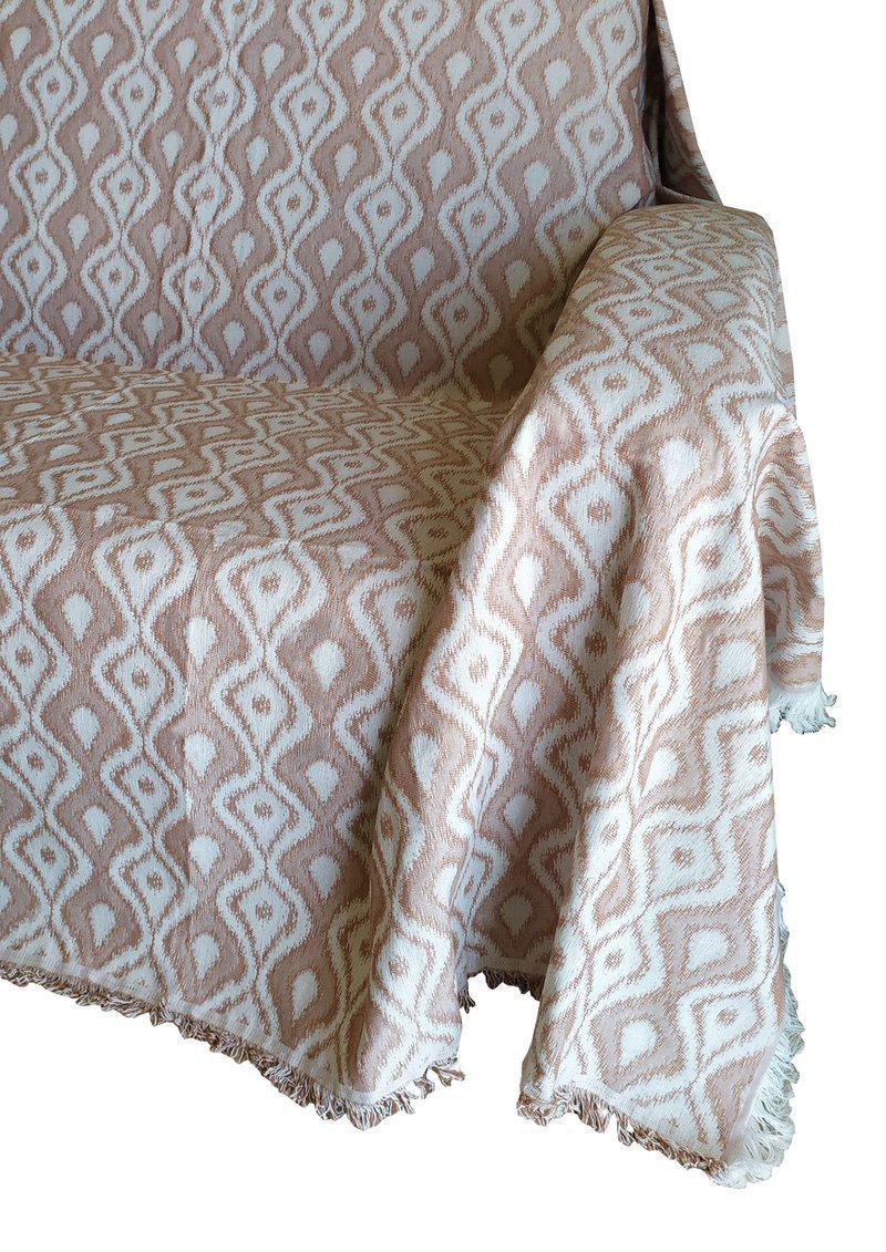 Ριχτάρι ΚΟΜΒΟΣ Βαμβακερό Διθέσιου 180×240 Ibiza Ceramic