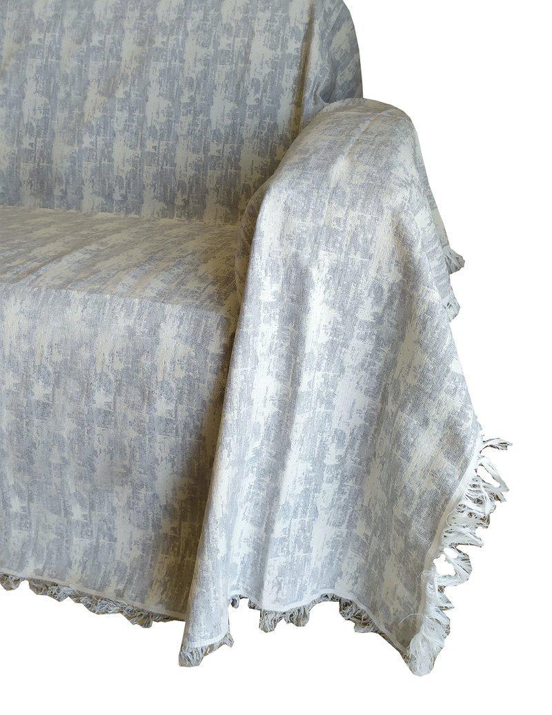 Ριχτάρι ΚΟΜΒΟΣ Βαμβακερό Διθέσιου 180×240 Toledo Light Grey