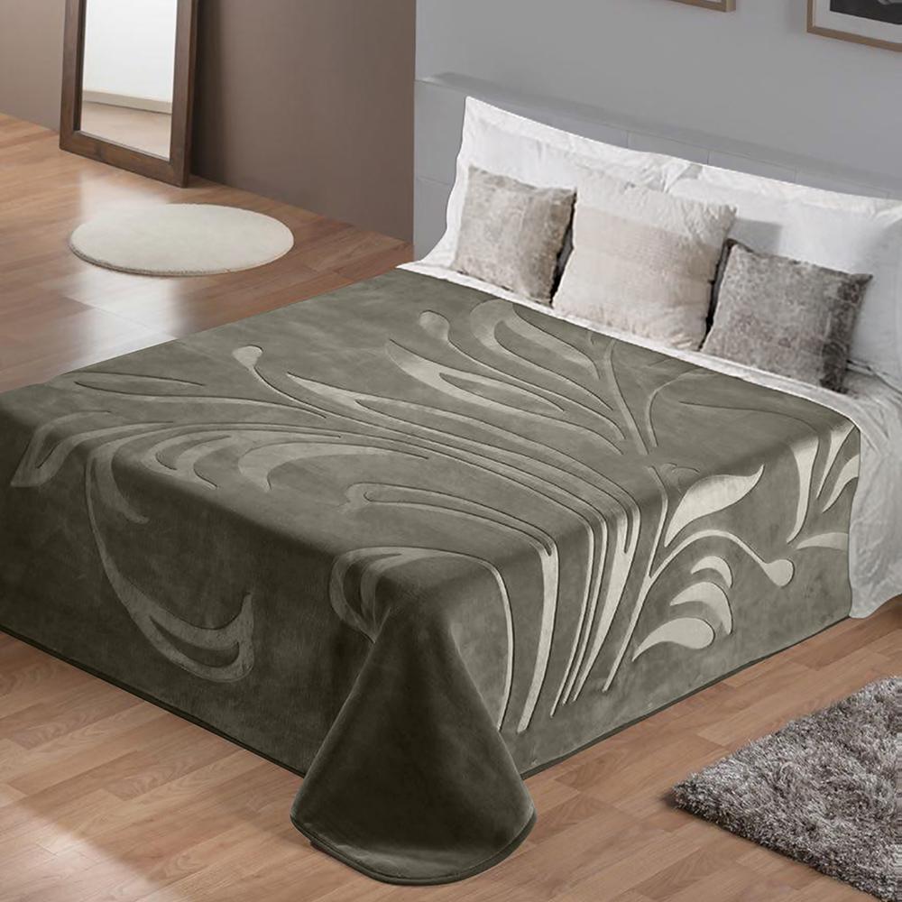 Lino Κουβέρτα Υπέρδιπλη 220×240 Maralok Grey