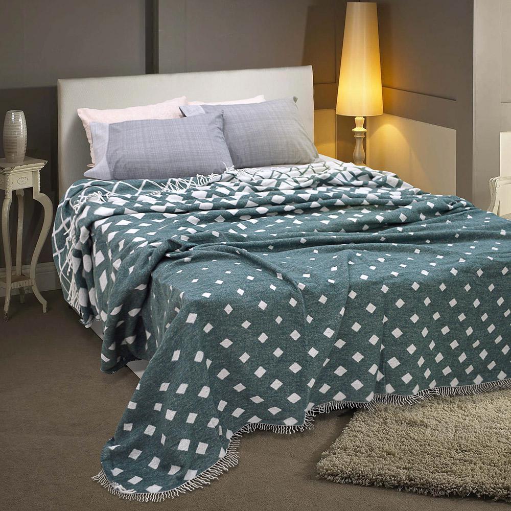 Lino Home Κουβερτα με Κρόσια Υπέρδιπλες 230×230 Haler Dgreen