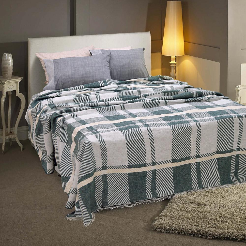 Lino Home Κουβερτα με Κρόσια Υπέρδιπλες 230×230 Bary Dgreen