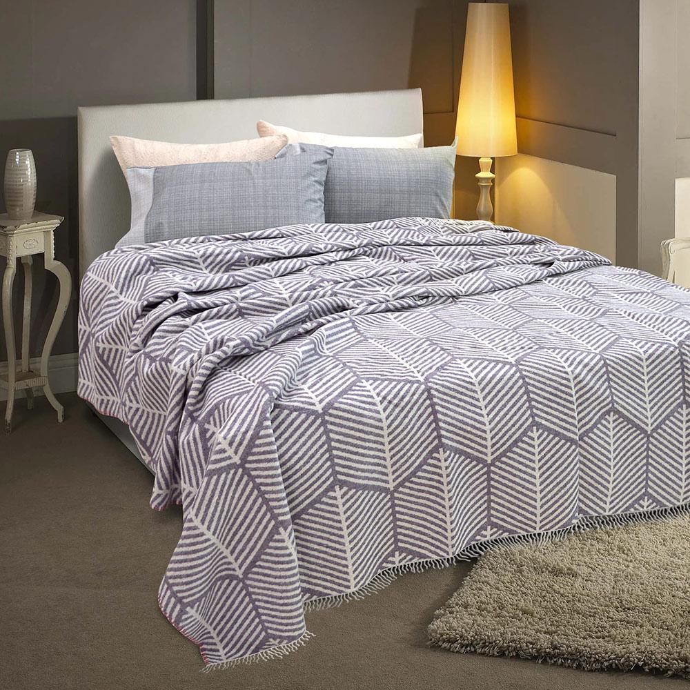 Lino Home Κουβερτα με Κρόσια Υπέρδιπλες 230×230 Bany Lilac