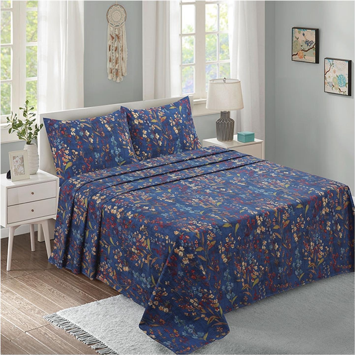 Lino Home Παπλωματοθηκη Υπέρδιπλες 220×240 Moorland Blue