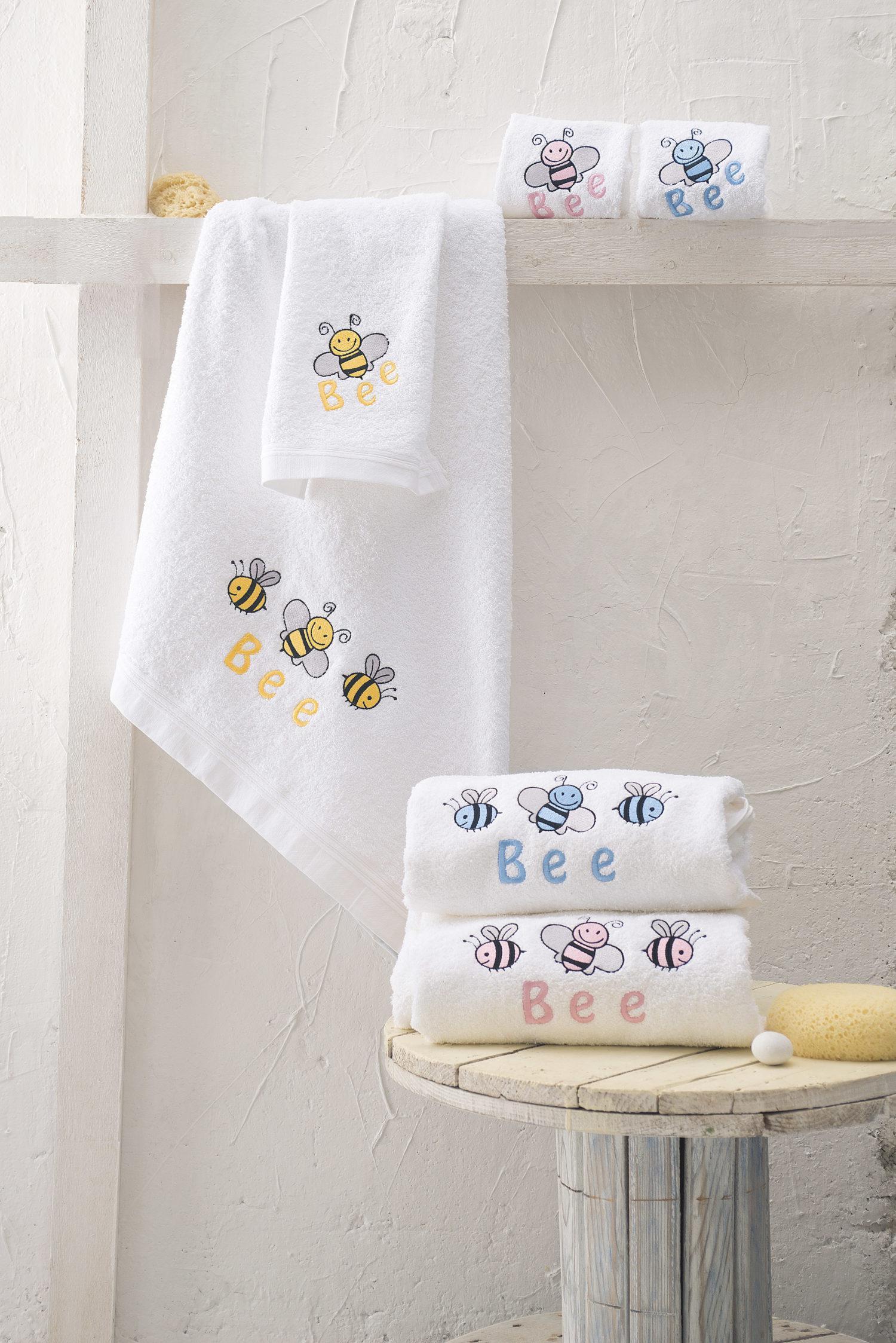 Rythmos Honey Bee- Σετ Πετσετεσ Παιδικεσ 2Τεμ. Κιτρινο Σετ 2 Τεμαχια (30X50 70X140)