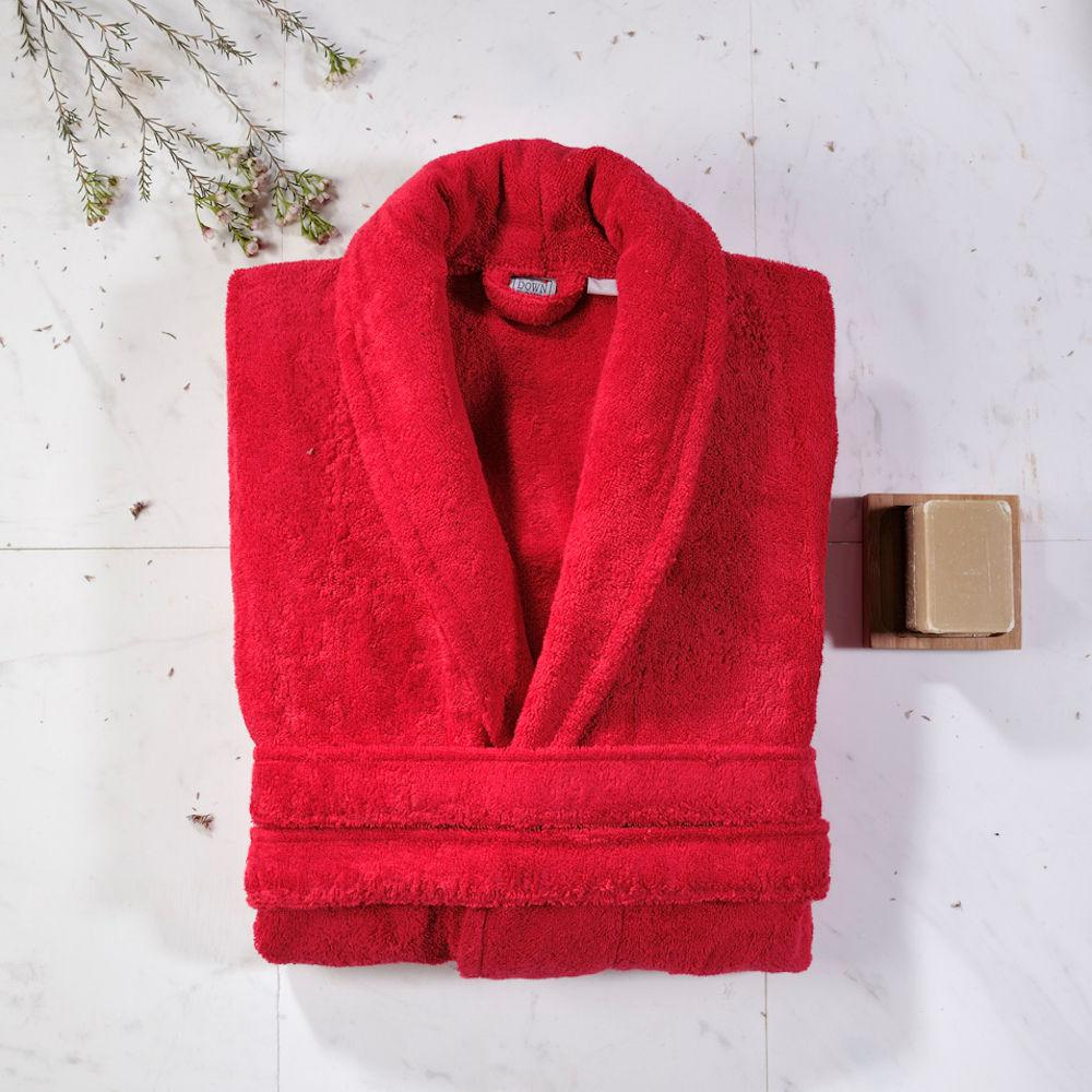 Down Town Ανδρικό Μπουρνούζι Extra Large Dalia Red