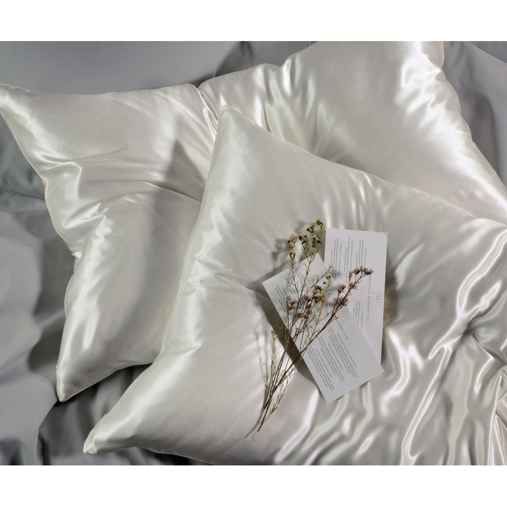 Down Town Μαξιλαροθήκη Mulberry Silk 50×76 White