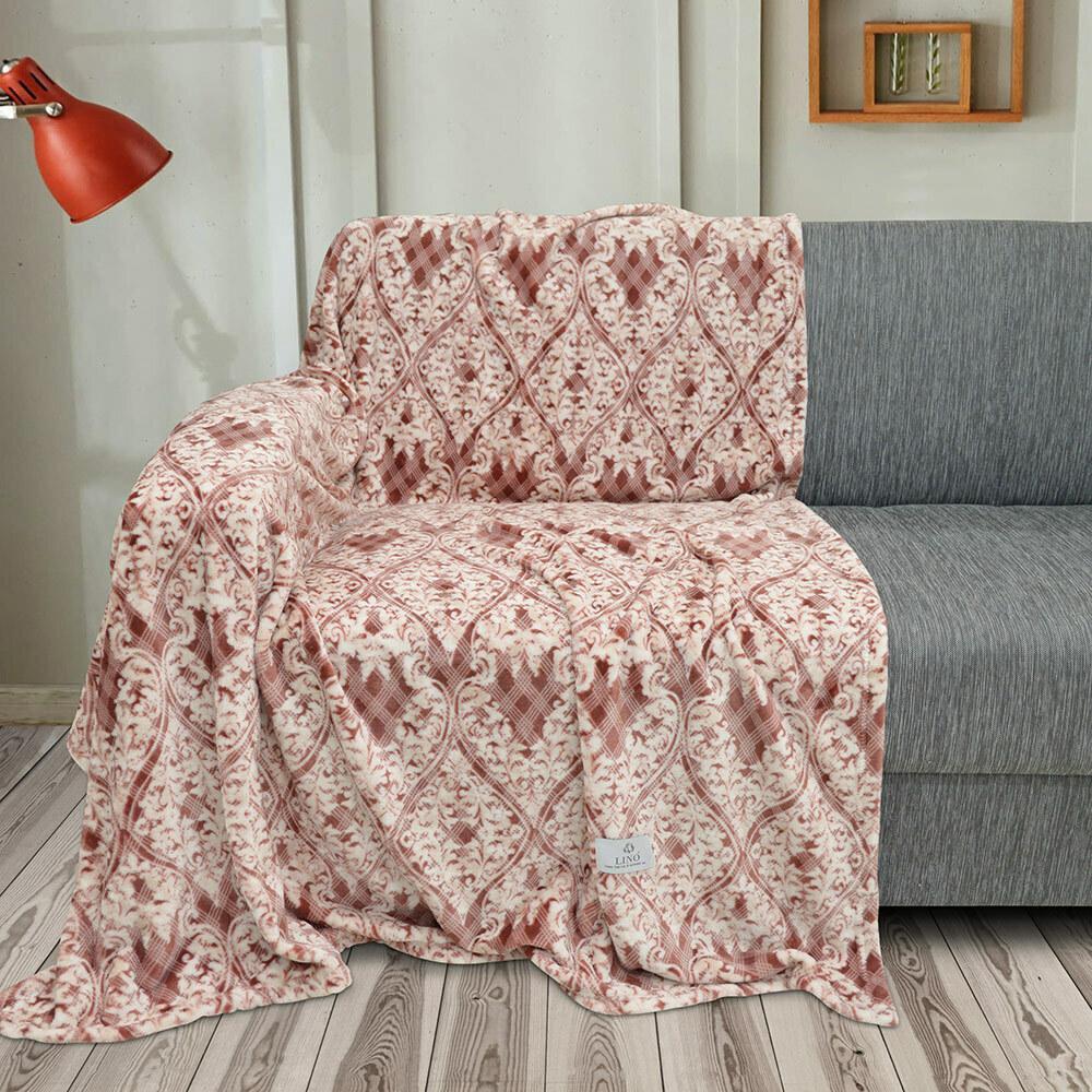 Lino Κουβέρτα Υπέρδιπλη 220x240 Etnico Red