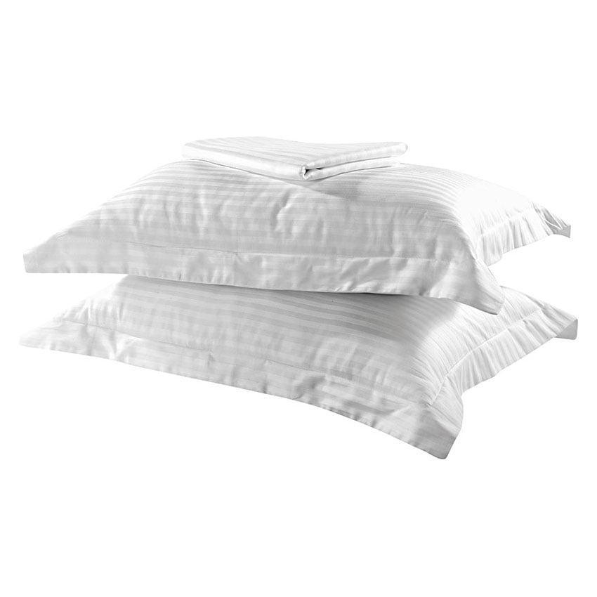 Σετ παπλωματοθήκη υπέρδιπλη Dobby Stripe Art 1381 220×240 Λευκό Beauty Home