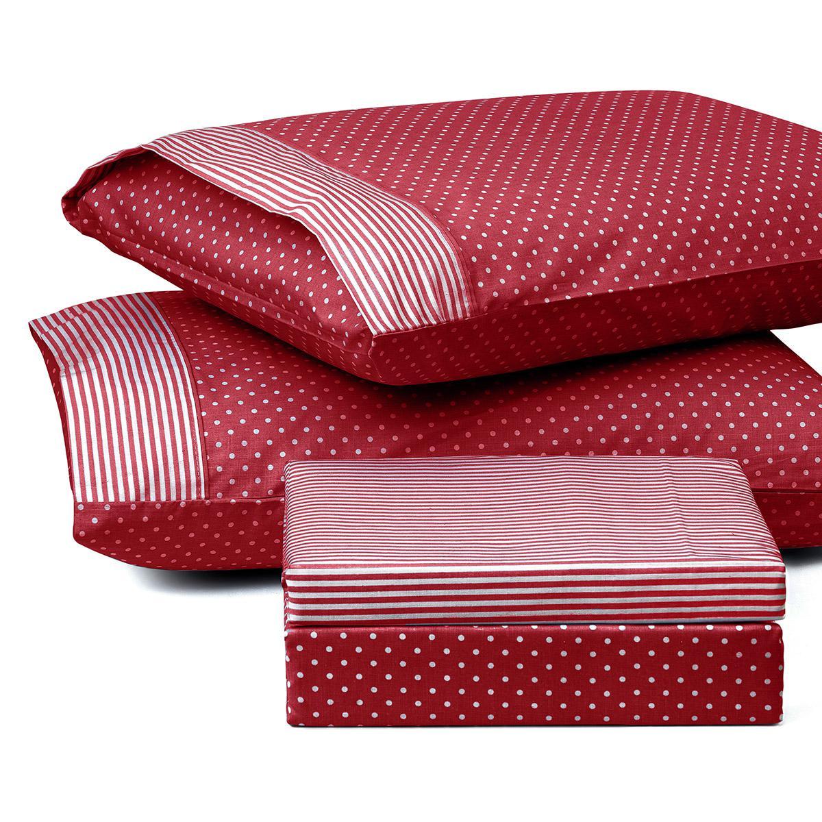 Σετ πάπλωμα υπέρδιπλο πουά JOY Art 1680 220×240 Κόκκινο Beauty Home