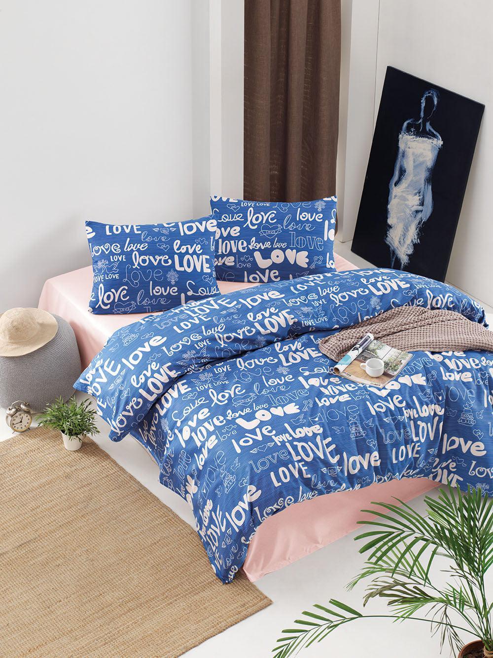 Σετ κουβερλί υπέρδιπλο Love Art 1806 220×240 Εμπριμέ Beauty Home