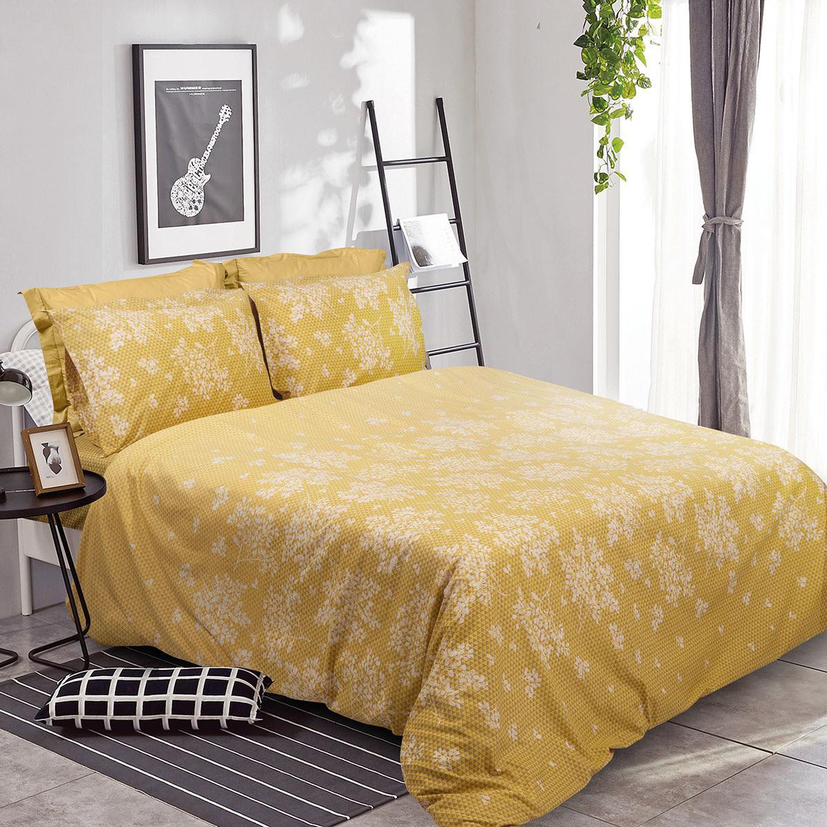 Σετ παπλωματοθήκη υπέρδιπλη Scarlet Art 1980 225×240 Κίτρινο Beauty Home