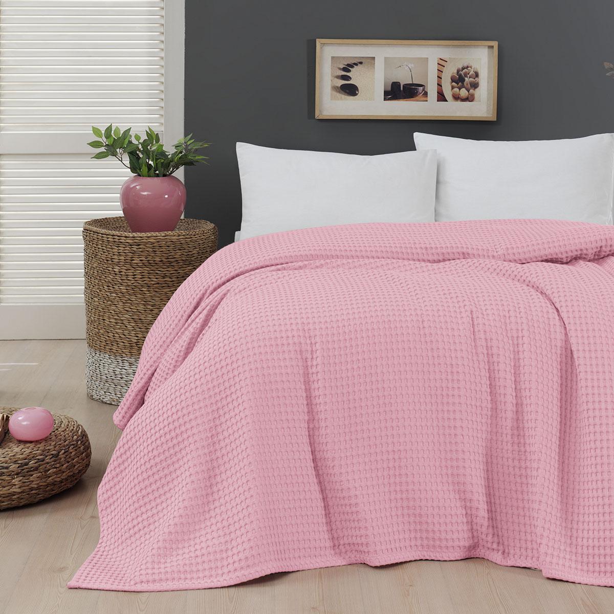 Πικέ μονή waffle Art 1990 Pink 170×240 Ροζ Beauty Home