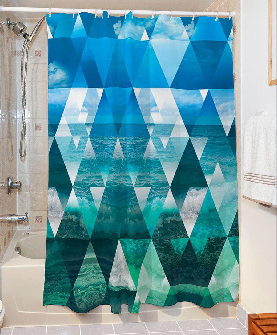 Κουρτίνα μπάνιου Waves Art 3064 190×280 Γαλάζιο Beauty Home