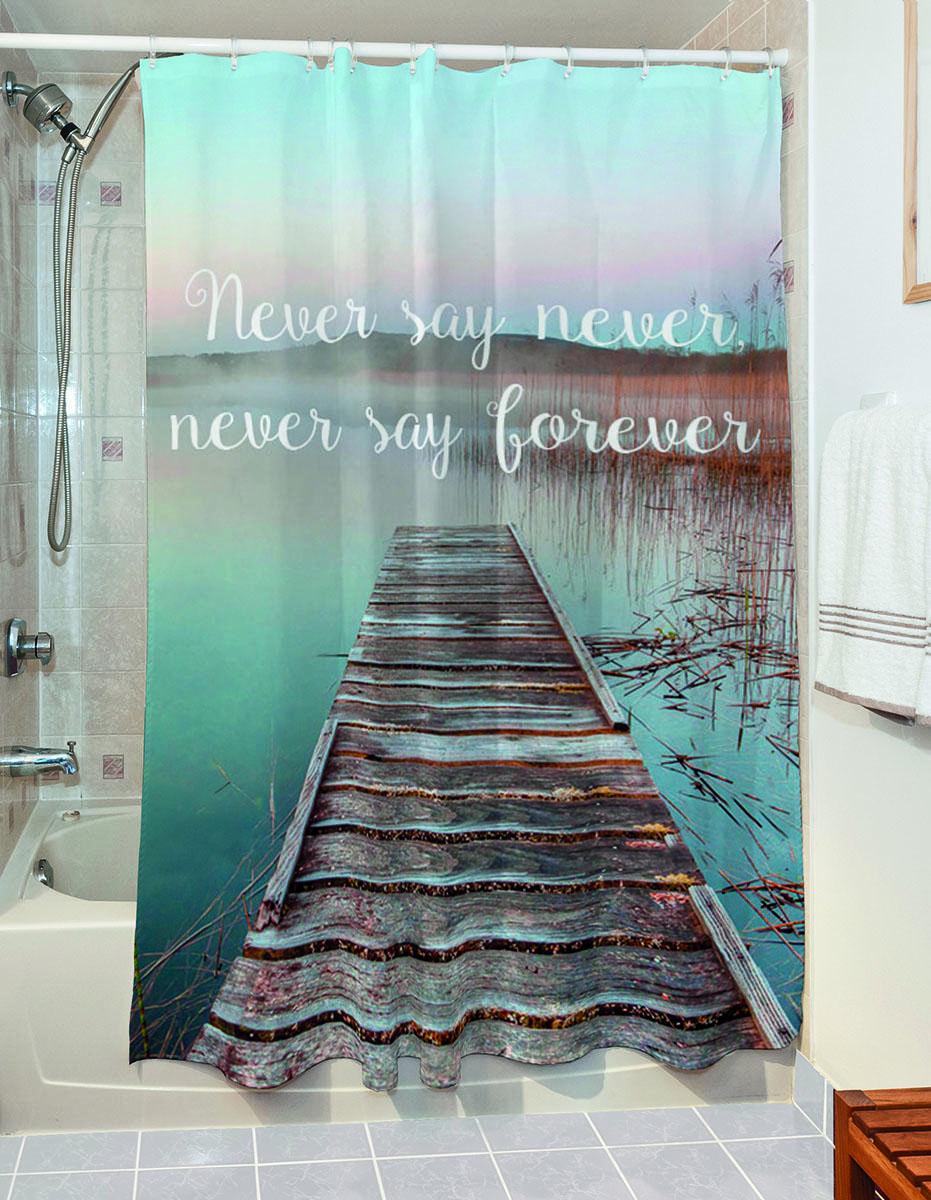 Κουρτίνα μπάνιου Maxim Art 3183 190×180 Γαλάζιο Beauty Home
