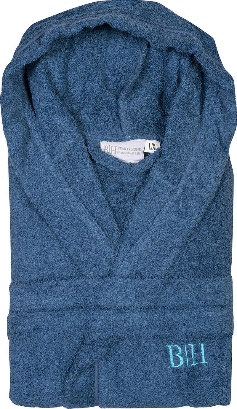 Μπουρνούζι με κουκούλα Art 3271 Μπλε M-L Beauty Home