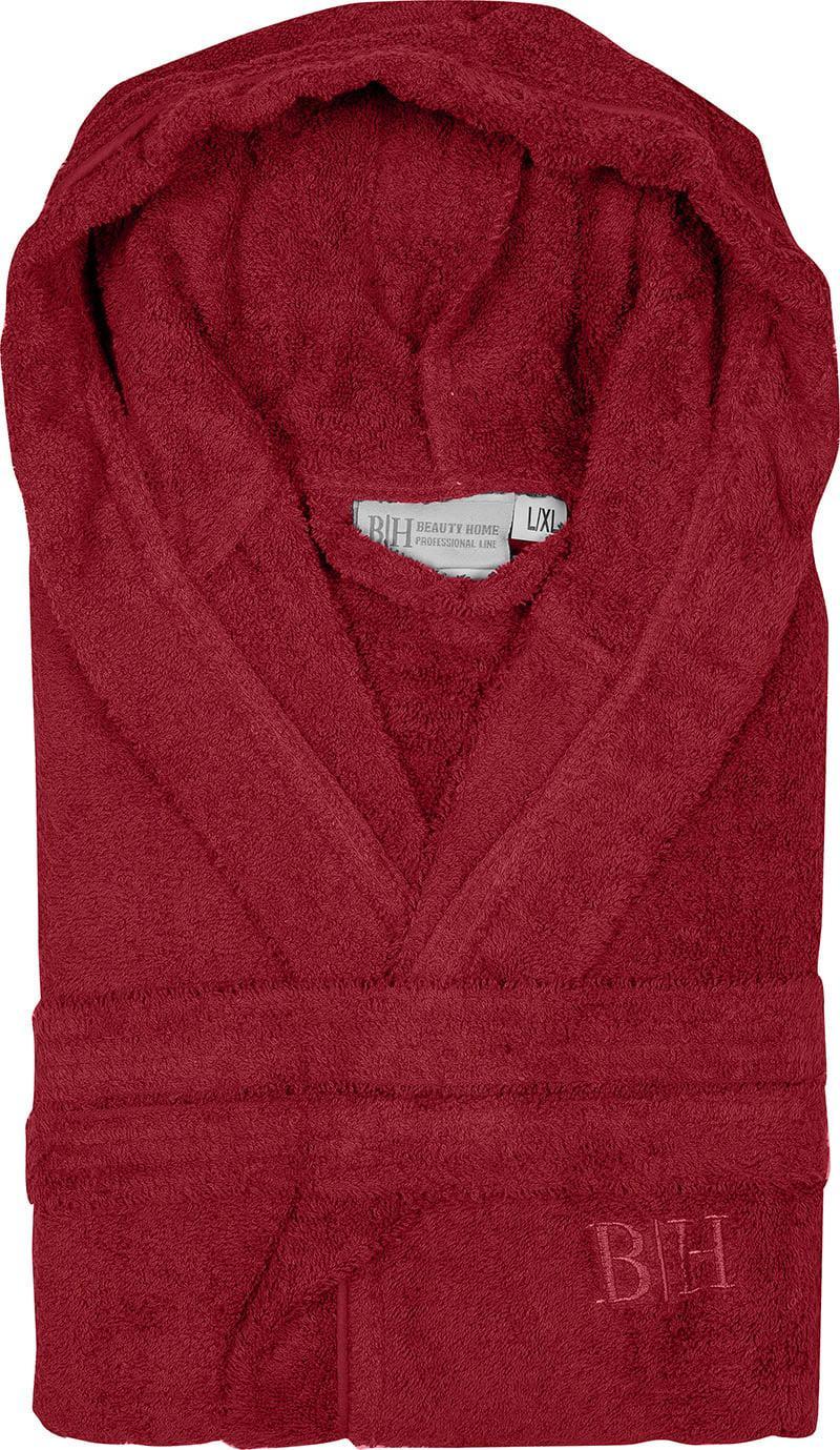 Μπουρνούζι με κουκούλα Art 3273 Κόκκινο M-L Beauty Home