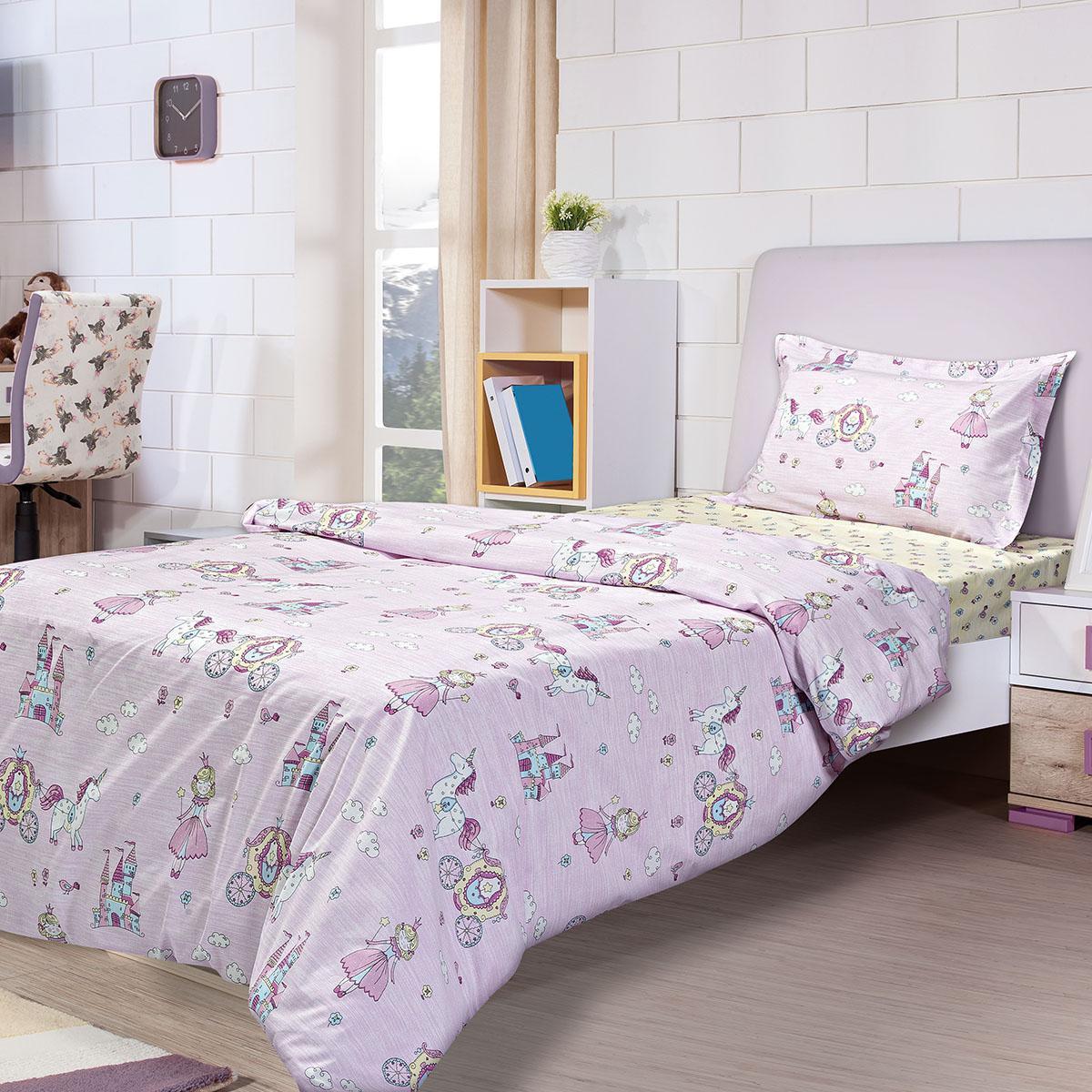 Σετ πάπλωμα μονό Tale Art 6171 160×240 Ροζ,Κίτρινο Beauty Home