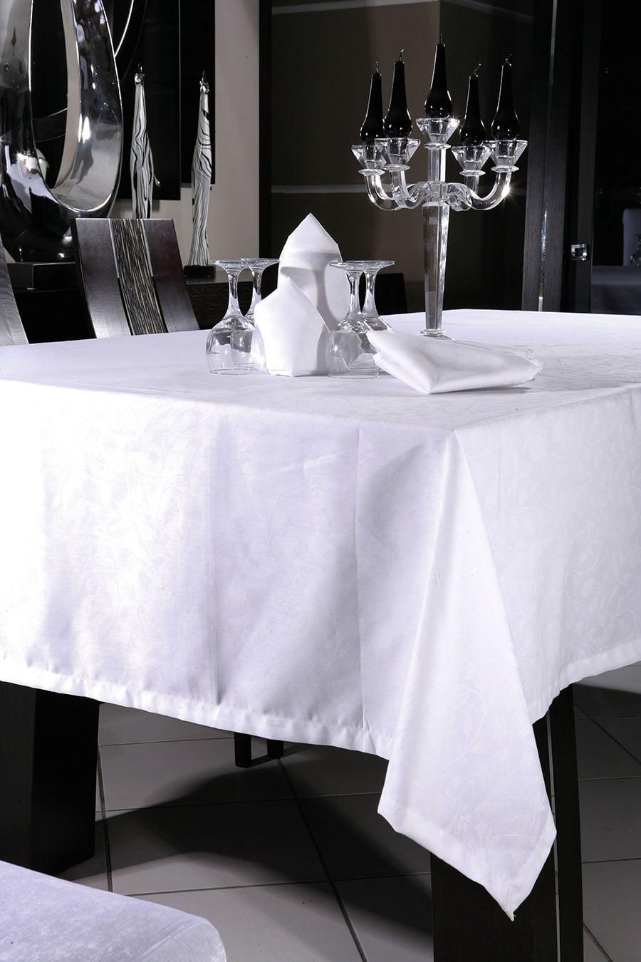 Τραπεζομάντηλο Art 8088 σε 2 χρώματα 160×270 Λευκό Beauty Home