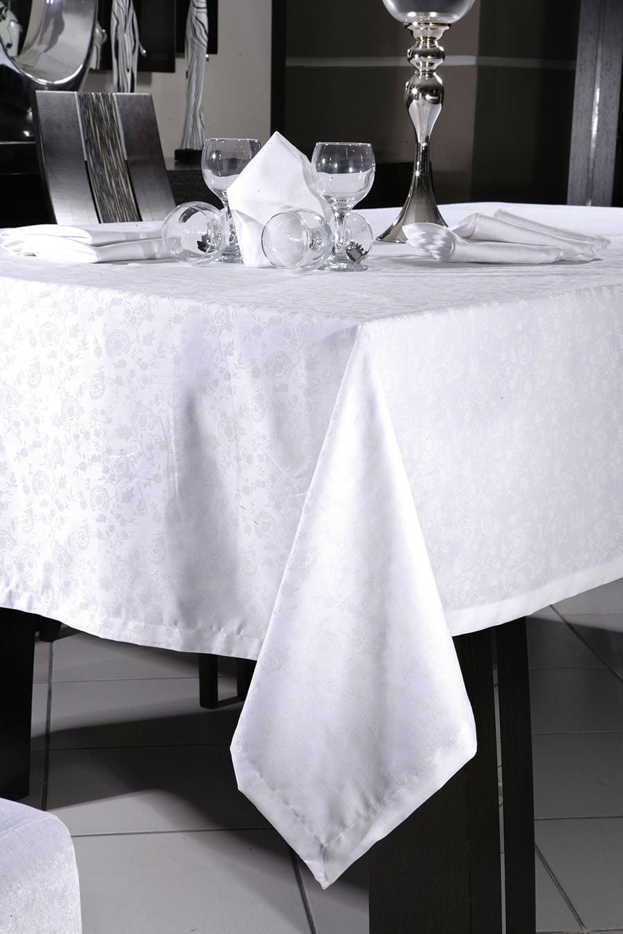 Τραπεζομάντηλο Art 8089 160×270 Λευκό Λευκό Beauty Home