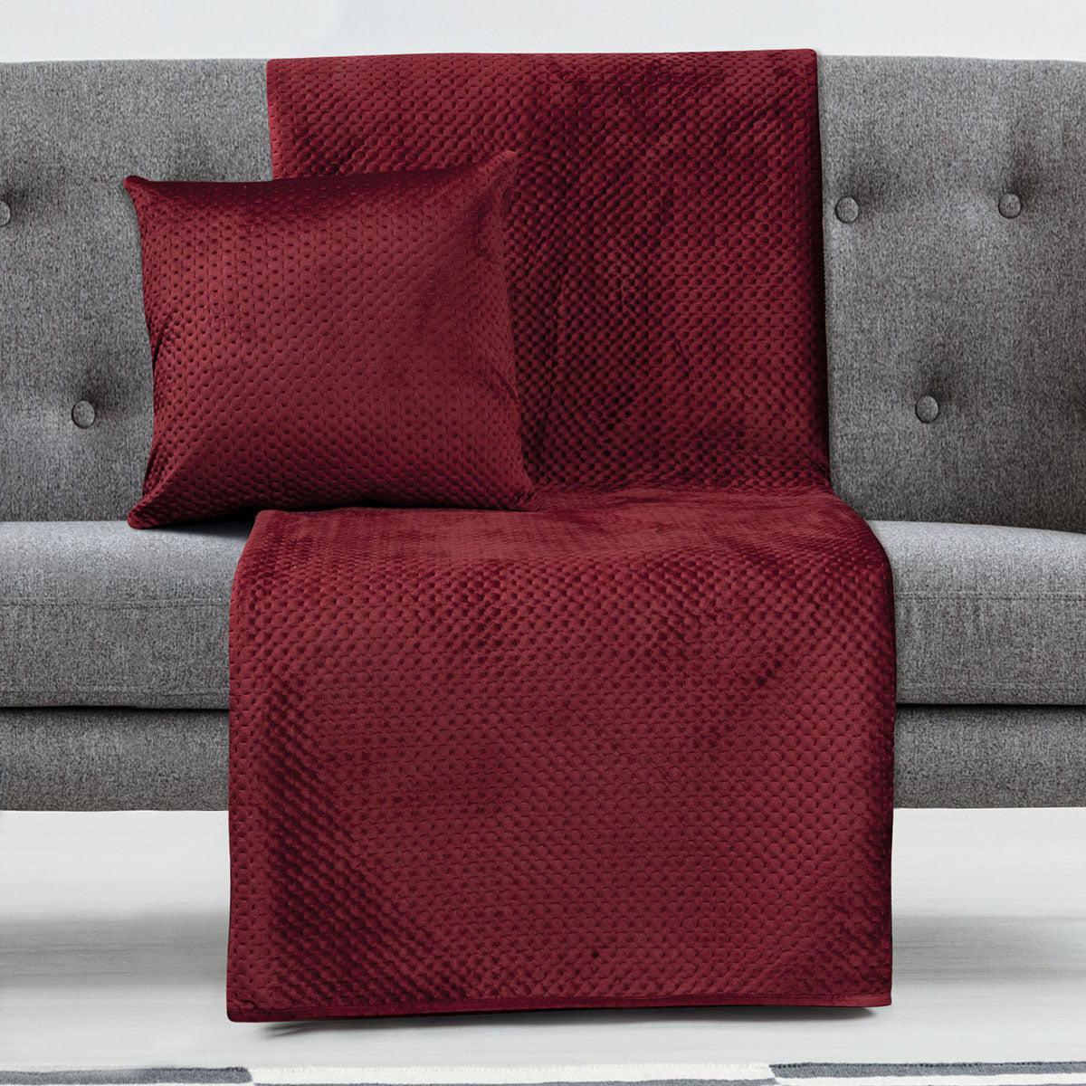 Ριχτάρι Τριθέσιο Velvety 180×300 Art 8352 Κόκκινο Beauty Home