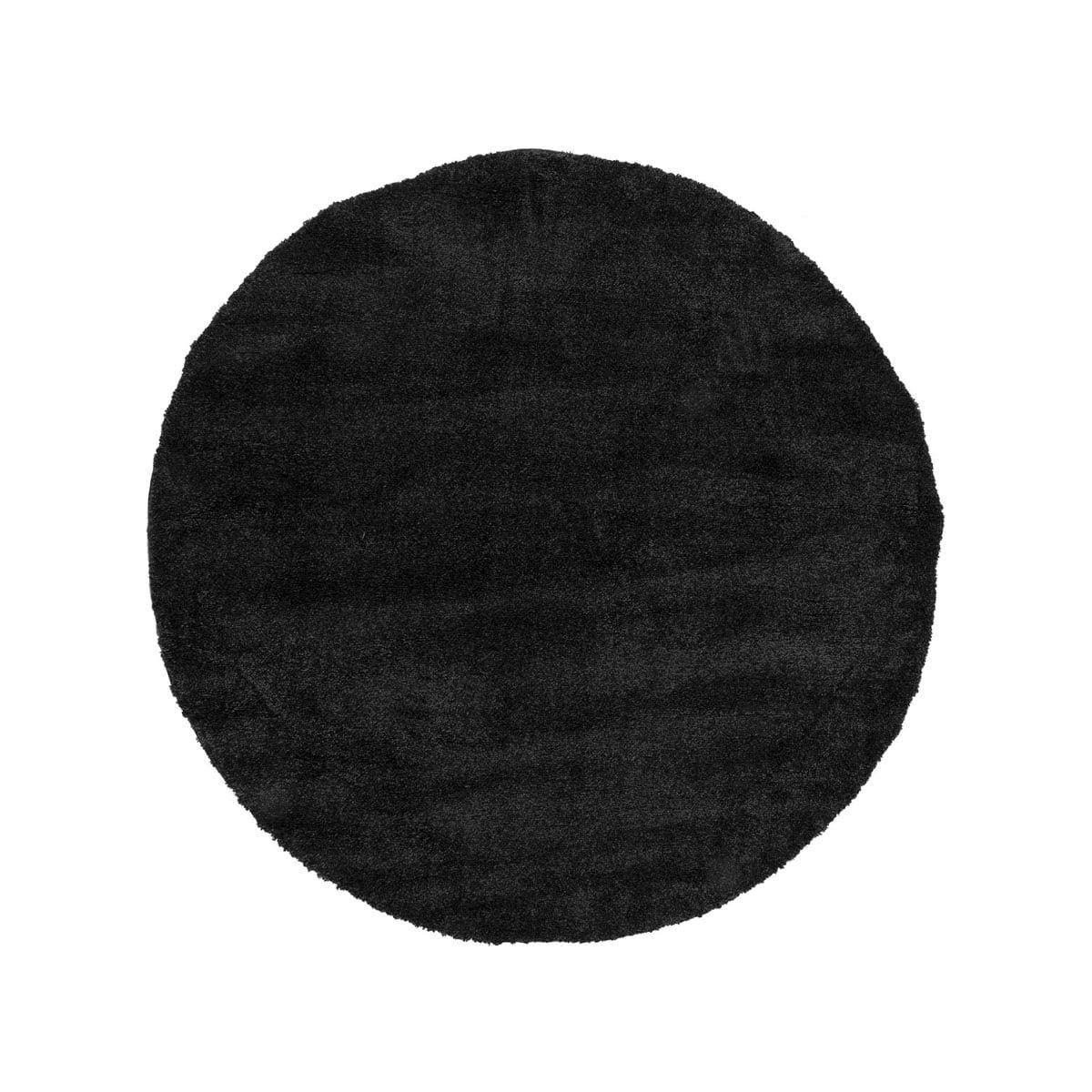 Ροτόντα 133×133 Fluffie Art 9613 Black Ανθρακίτης Beauty Home