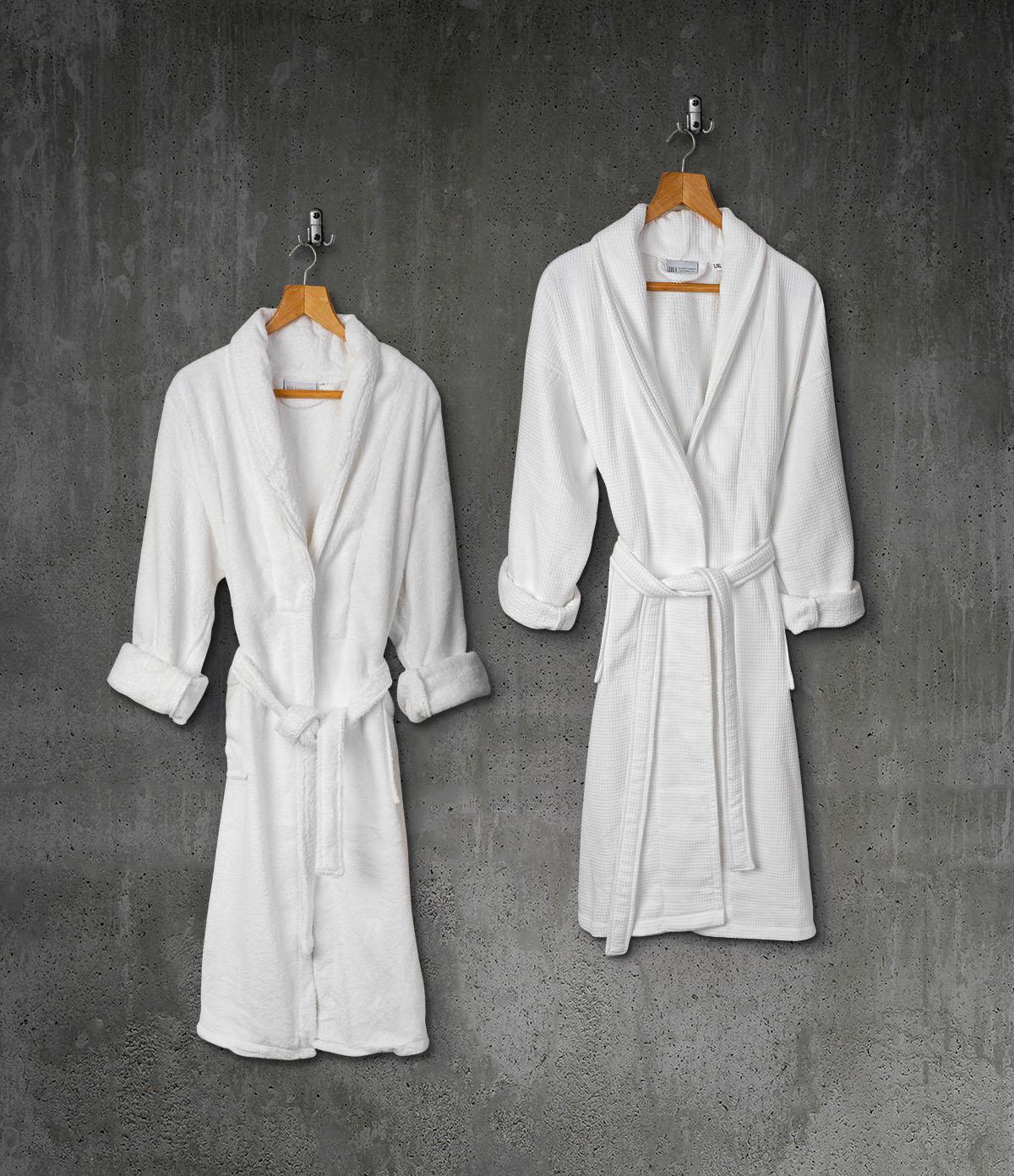 Μπουρνούζι Belton 100% Cotton Pennie με γιακά 440gsm L/XL Λευκό Beauty Home
