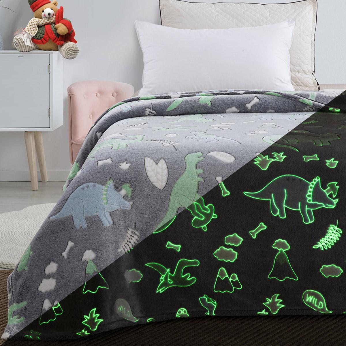 Κουβέρτα μονή φωσφορίζουσα Art 6145 160×220 Γκρι Beauty Home