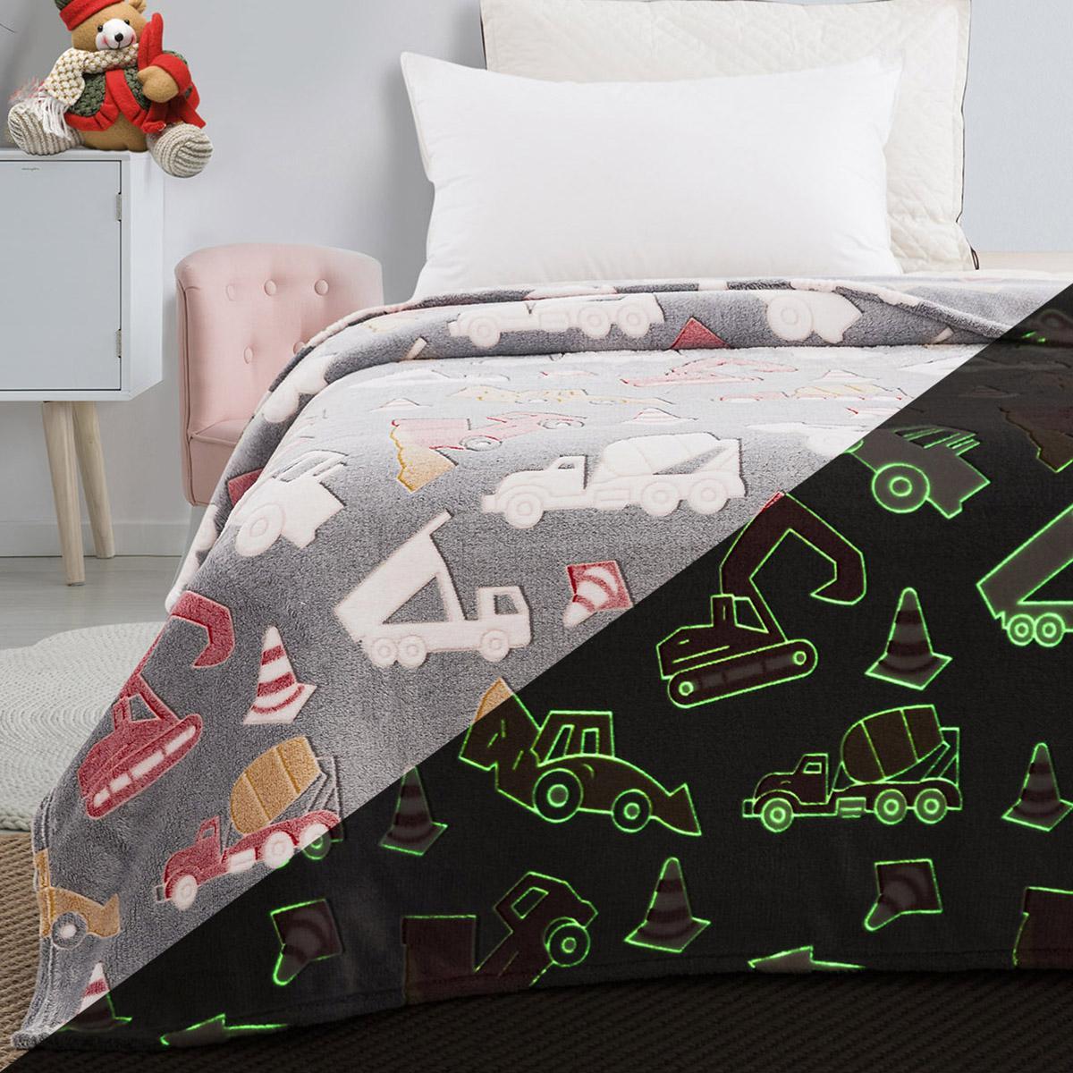 Κουβέρτα μονή φωσφορίζουσα Art 6147 160×220 Γκρι Beauty Home