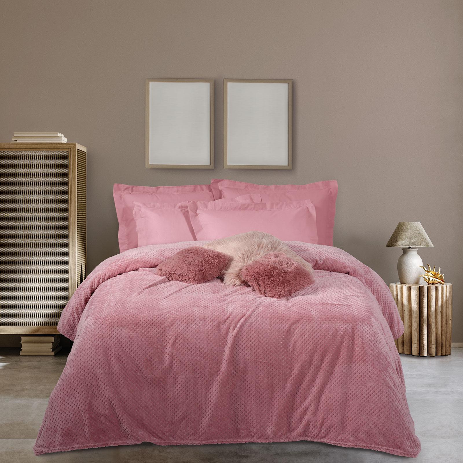Das Home Κουβερτα Fleece 160Χ220 0467 Nude
