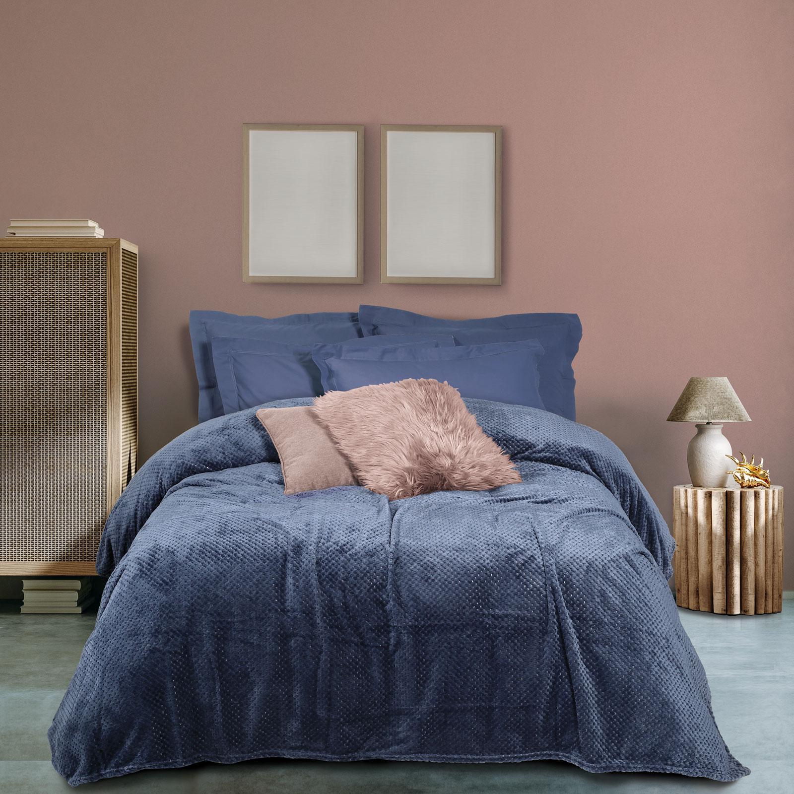 Das Home Κουβερτα Fleece 160Χ220 0468 Μπλε