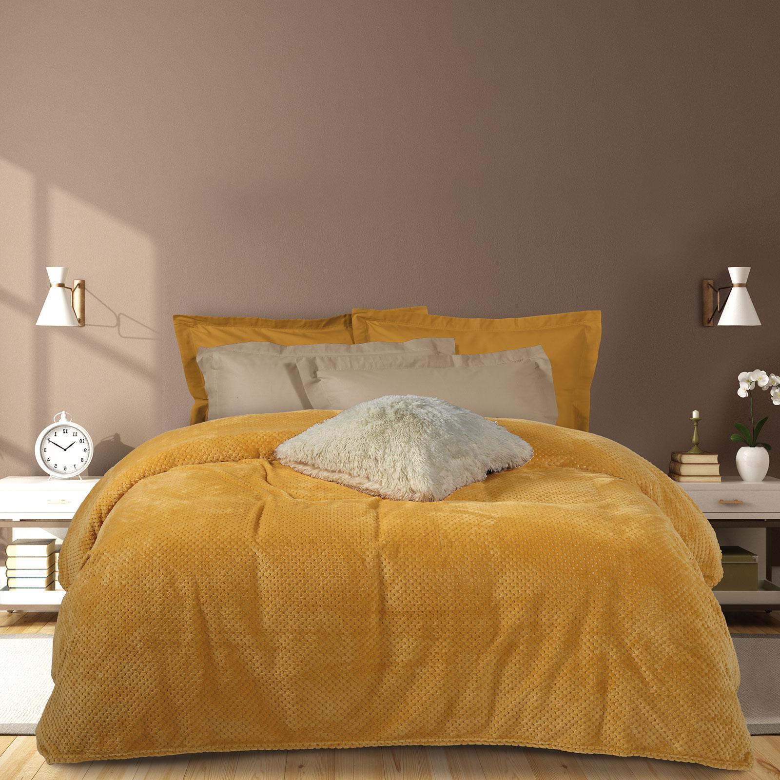 Das Home Κουβερτα Fleece 220Χ240 0466 Ωχρα