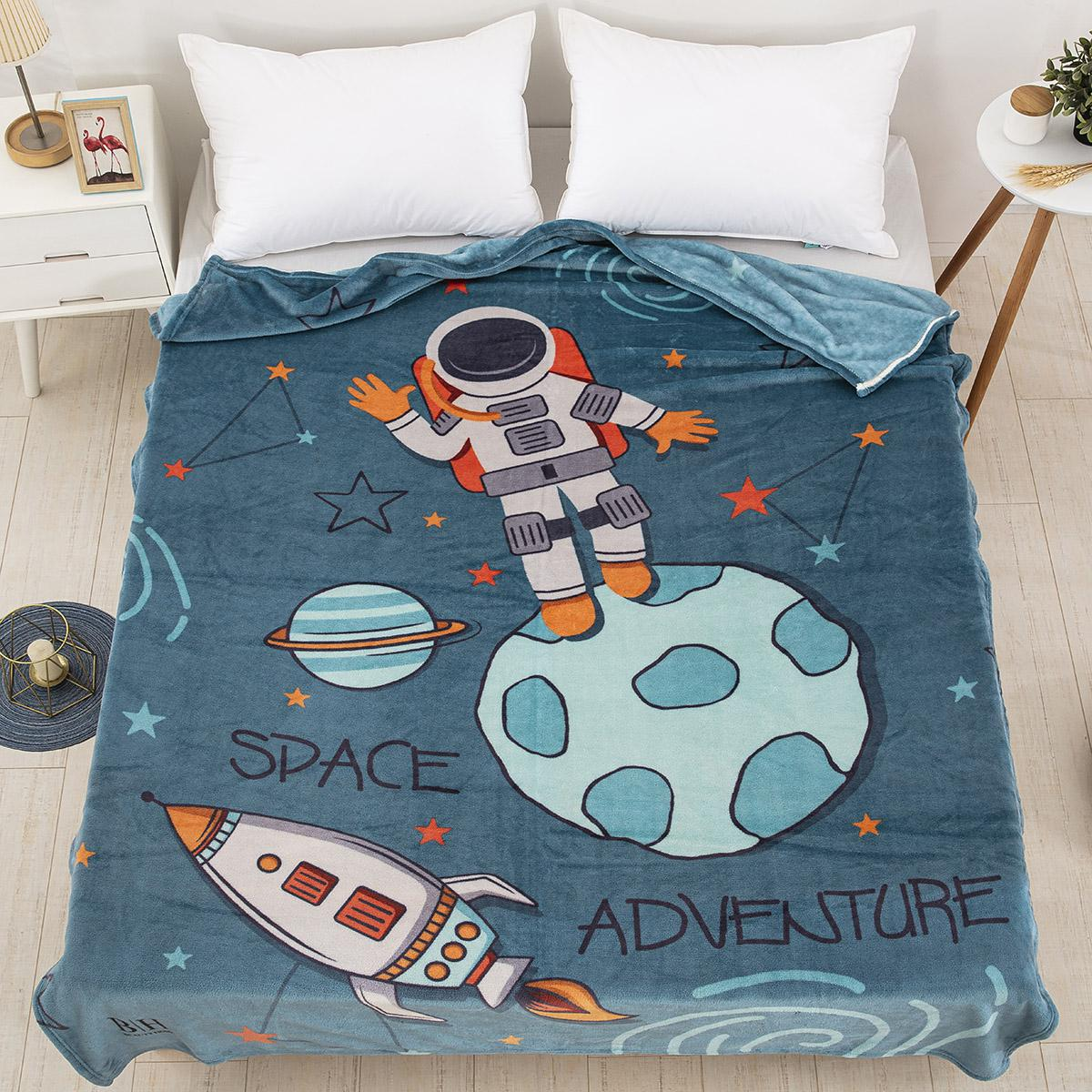 Κουβέρτα μονή Art 6167 160×220 Μπλε Beauty Home