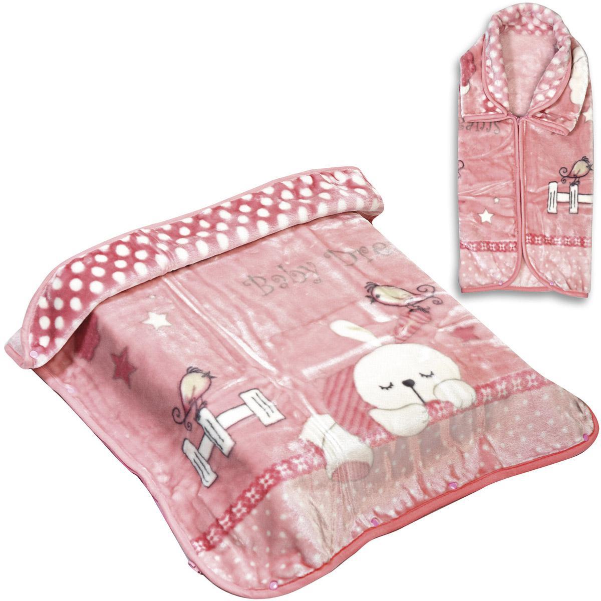 Κουβέρτα βρεφική – Υπνόσακος Art 5252 80×110 Ροζ Beauty Home