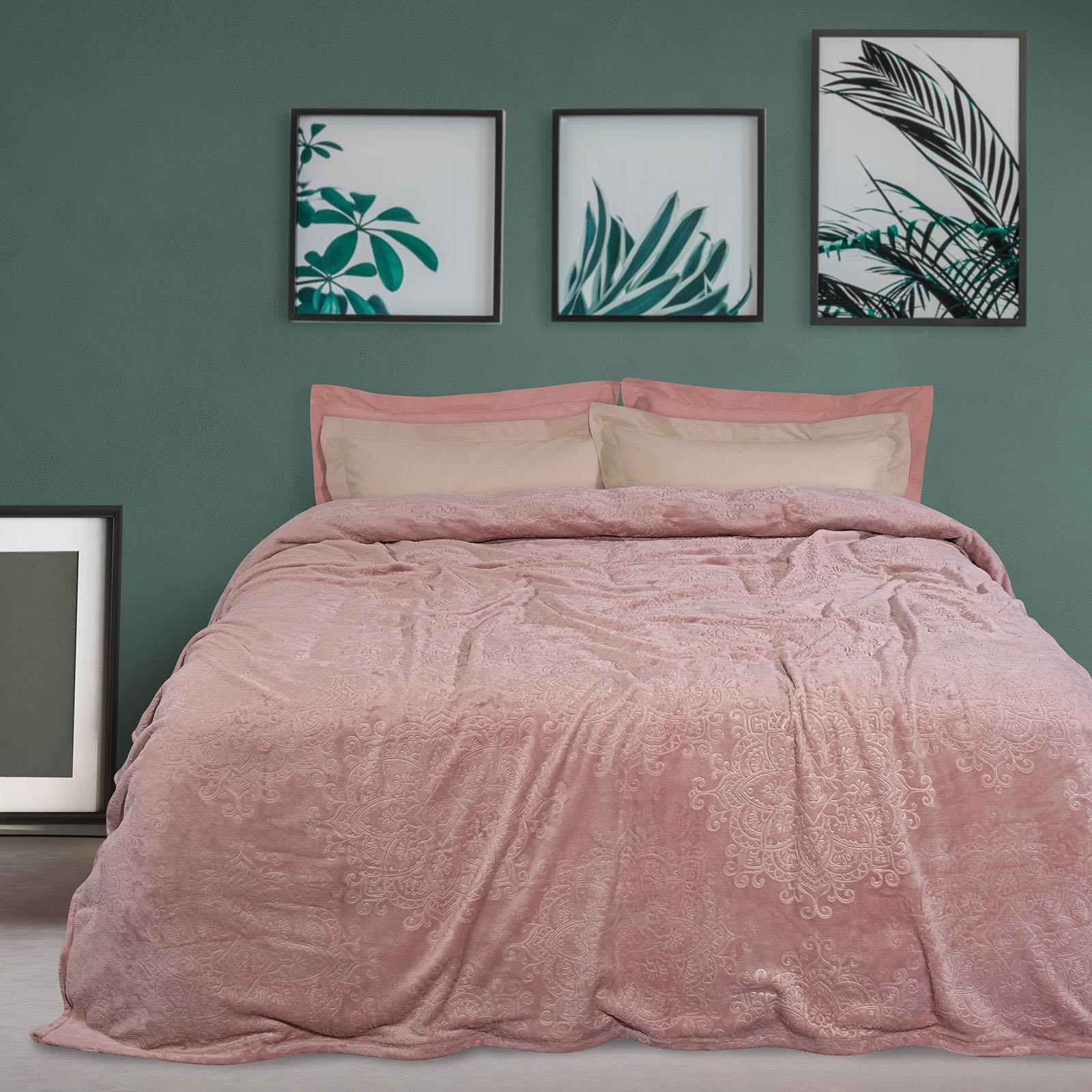 Das Home Κουβερτα Χειμωνιατικη Μονή 160×220 Nude 0453