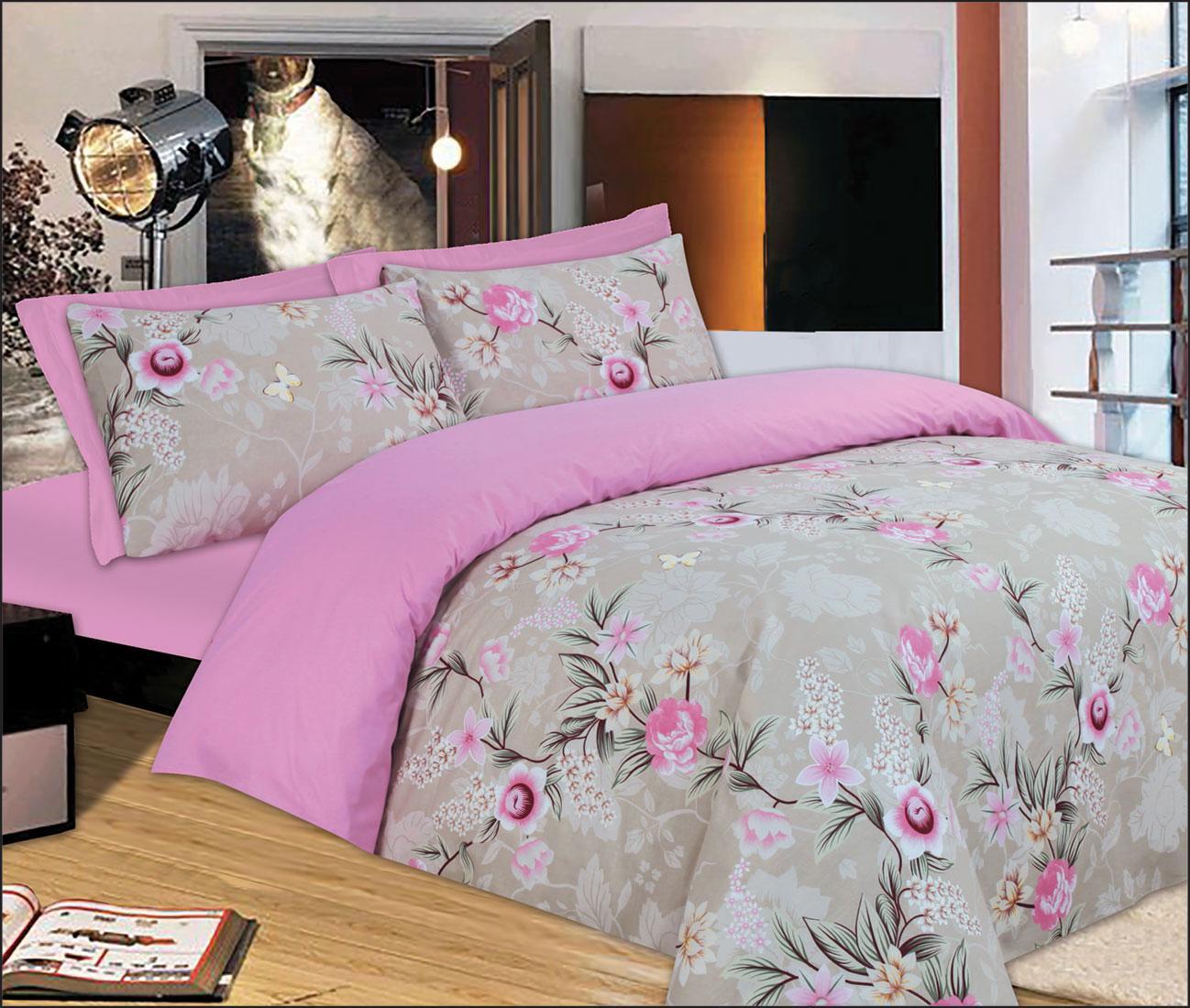 Σετ Κουβερλί Le Blanc Premium Μονό Pink Rose 160Χ240