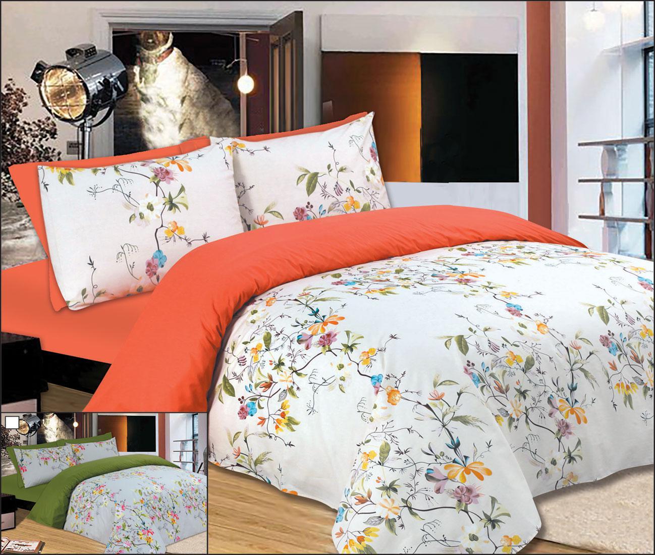 Σετ Κουβερλί Le Blanc Premium Μονό Flowers Peach 160Χ240