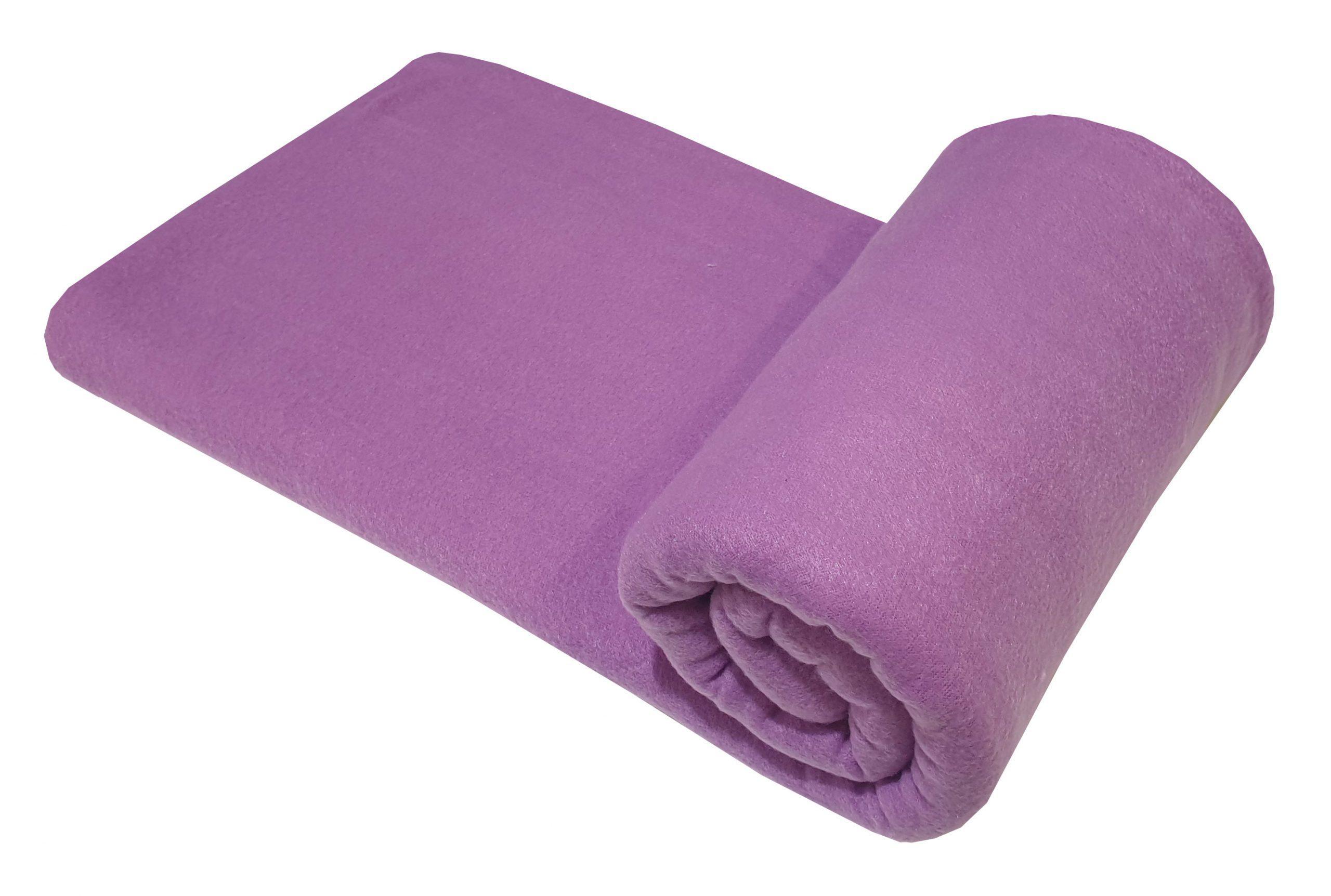 Κουβέρτα ΚΟΜΒΟΣ Fleece 100% Polyester 180gr Μονή Lilac 150×220