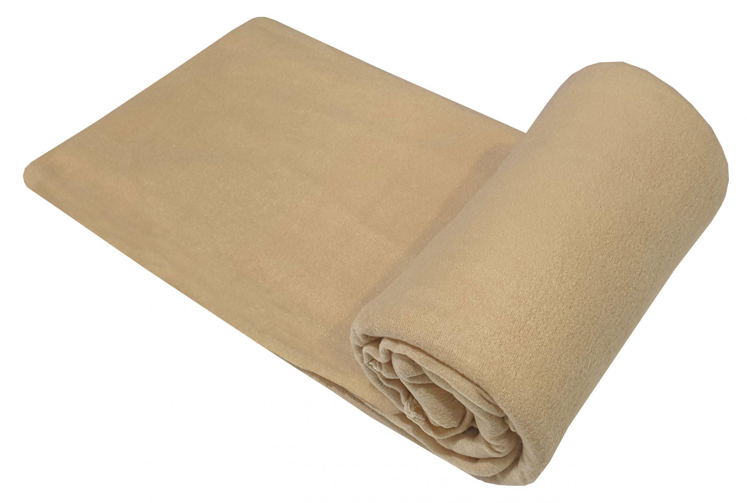 Κουβέρτα ΚΟΜΒΟΣ Fleece 100% Polyester 180gr Διπλή Beige 200×220